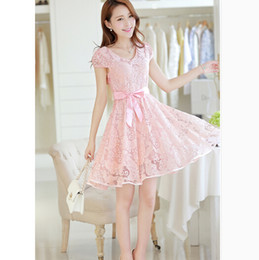 Hot sale the new full-skirted dress stripe sweet and pure and fresh hottest fashion lady dress bud silk chiffon dress lace dress