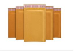 Acolchada electrónico en venta-Mail Bolsos Pequeños Envoltorios de burbujas Kraft Sobres acolchados Bolsas Externamente Bolsa Packaing Bolsa 14cm X 16cm + 4cm Bolsas de protección de sobre
