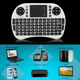 Wholesale Mini Wireless Keyboard GHz English Air Mouse Keyboard Remote Control Touchpad For Android TV Box Notebook Tablet Pc K01