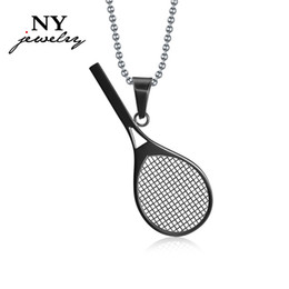 Cute Tennis Racket Necklace & Pendant Sport Jewelry Stainless Steel gifts for men women