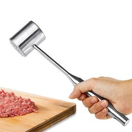 Wholesale New Arrivals Meat Tenderizers Hammer Steak Beef Pounders Beater Poultry Mallet Tools Stainless Steel Circular C127