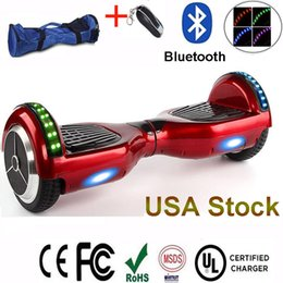 USA Stock Bluetooth Speaker Electric Scooters Smart Drifting Board RGB LED Light Hoverboard Motor Self-balancing Scooter CE FCC UL Charger