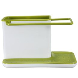 Wholesale Practical Plastic Organizer Cabinet Kitchen Sink Caddy Storage Space Saver Drain Multifunctional Kitchen Sponge Drying Racks