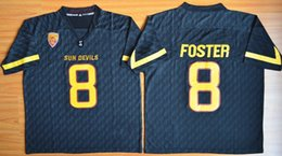 Wholesale 2015 Arizona State Devils Jersey Arizona State Sun Devis D J Foster red black grey white College Football jersey