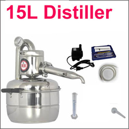Wholesale 15L Distiller Bar Household facilities wine limbeck distilled water baijiu large capacity vodka maker brew alcohol whisky