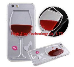 Wholesale For galaxy s5 note4 D Red Wine Cup Cocktail Beer Liquid transparent Flowing Case Cover For iPhone5 plus Phone Cases Back Covers