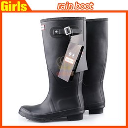 Wholesale women boots fashion Knee high rain boots low heels knee high waterproof welly boots rainboots water shoes