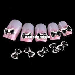 Wholesale-New Free Shipping Wholesale Nail Supplier,100pcs 3D Resin Black White Bowtie DIY Acrylic UV Gel Polish Tool Nail Design Nail Art