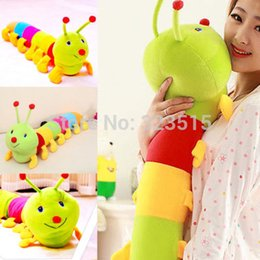 Wholesale 50 cm Popular Colorful Inchworm Soft Lovely Developmental Toys for Caterpillar hold pillow Toys Hot Sales