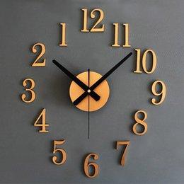 Wholesale Fashion Home Back In Time True D Stereo Diy Metallic Wall Clock For My Warm Home orologio da parete Smile