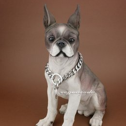 12~30inch 15mm Width 316L Stainless Steel luxury Dog Chains Collars 5A011DC Free Shipping Customize length Unique Gift