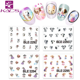 Wholesale HOTSALE BLE2292 Cute dog Design Tip Nail Art Sticker Pet Nail Art Water Stickers Beauty Nail Salon For Girls water decals