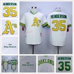 Wholesale Rickey Henderson Jersey Cooperstown Oakland Athletics Jerseys Grey White