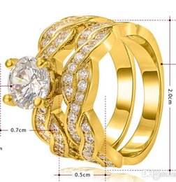 Free Shipping Fine Wholesale - European and American hot selling Jewelry wholesale jewelry Platinum filling Cross double Drill Ring sets