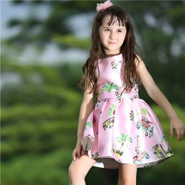Pettigirl New Summer Woven Child Girls Pink Dress With Print Floral Princess Girl Flower DressES For Kids ClothING GD80727-2L