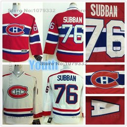 Wholesale 2015 Youth Montreal Canadiens Hockey Jerseys Kids P K Subban Jersey Youth Home Red Cheap Boys PK Subban Hockey Jersey On Sale