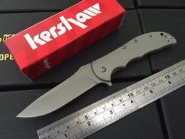 Wholesale Kershaw Volt SS II Assisted Opening Knife Stainless Steel Bead Blast SS Cr13MOV steel Plain Folding blade knife knives new in box