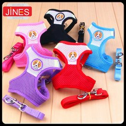 Wholesale Soft Mesh Pet Harness Clothes Dog Cat Vest With Traction rope Leash Dog Apparel Breathable Summer Winter