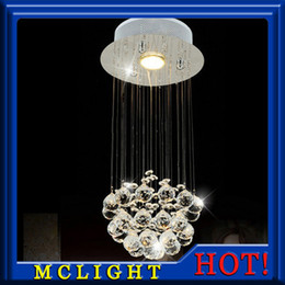 Wholesale Small Led Ceiling Light Fixtures - Mini Small Crystal Ceiling Light Fixture Flush Mounted Crystal Lamp Lustre stairs porch aisle hallway corridor Light