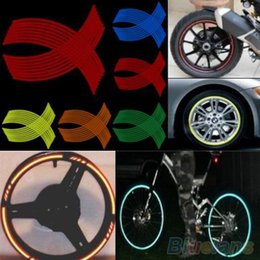 16 Strips DIY Reflective Rim Stripe Tape Bike Motorcycle Car Wheel Sticker