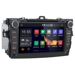 Wholesale Joyous quot DIN Android Car DVD Player for Toyota Corolla with GPS Navigation Radio BT USB AUX G WIFI GHz CUP G RAM
