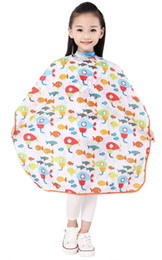 Professional Hair Cutting Cape for kid Apron Colorful Barber Cloth for Children salon Waterproof Hairdressing Gown Capes for baby boy girl