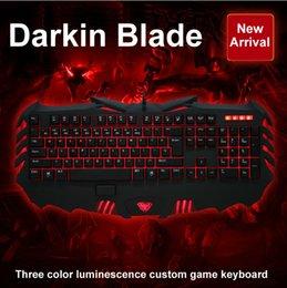 Wholesale NEW Arriva AULA lol professional gaming Keyboard light emitting backlit keyboard All keys can custom programming Game Keyboard