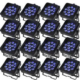 Dj LED Slim Par Lights DJ Lighting Wash Light With 6in1 RGBWA UV Led Lamp DMX 6 10 Channels Pack of 16