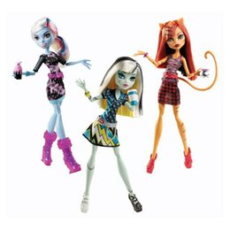 Wholesale Original Monster High Coffin Bean Toralei cat Abbey Bominable Frankie Stein Dolls For Girls Birthday Christmas Gifts Genuine Brand Kid Toys