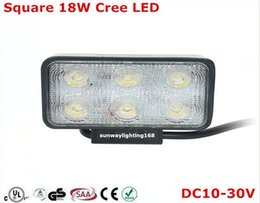 Wholesale IP67 Round Square W CREE LED Bar Off Road work Light as Worklight Flood Light Spot Lights for Boating Hunting Fishing Driving