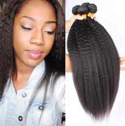 Top Quality Mongolian Kinky Straight Virgin Human Hair 3 Bundles 100% Carse Yaki Virgin Human Hair Large In Stocks