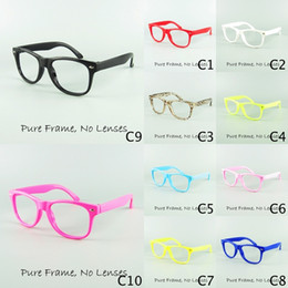 Wholesale 2015 Outdoor Kids Eyewear Frame Colors Children Funny Toy Sports Colors No Lens Fashion Decoration