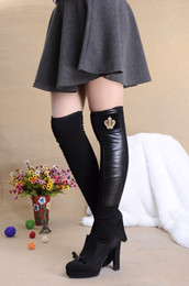 Wholesale-7 style Faux Leather patchwork Leg Warmers,high over knee novelty stirrup Boot Cuffs with Metal Leopard,ladies Women boot socks