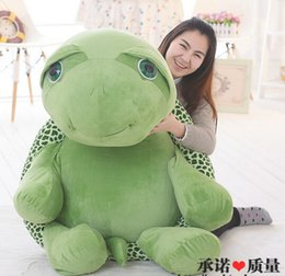 Wholesale Stuffed Green Turtle - hot New 59'' 150cm Plush Stuffed Giant Turtle Tortoise Toy, Free Shipping FT90552