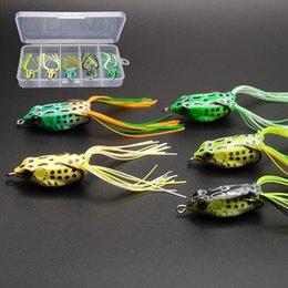 Wholesale 5pcs Soft Rubber Frog Fishing Lures Small Medium Large Size Topwater Soft Frog Baits w Lifelike Design FREE Bait Box