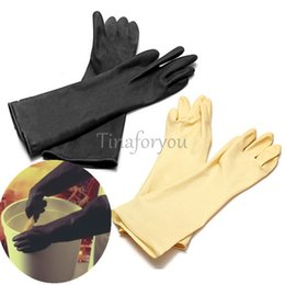 Wholesale 1 Pair Chemical Resistance Industry Elbow Long Rubber Gloves Acid Chemical quot
