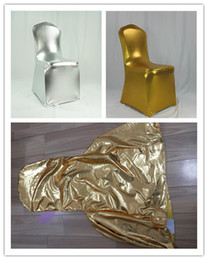 New Design Metallic Spandex Chair Covers Wedding Silver Chair Cover For Wedding Party