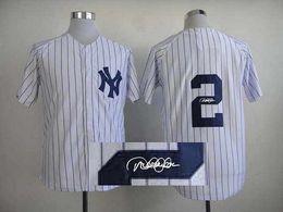 Wholesale Yankees Derek Jeter White Baseball Jersey Signature Baseball Shirts Autographed Sports Team Uniforms Hot Sale Athletic Shirts for Men
