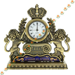 Wholesale Drop shipping Retro table clocks vintage arts craft Antique home garden kitchen decor Russian medal souvenir men gift