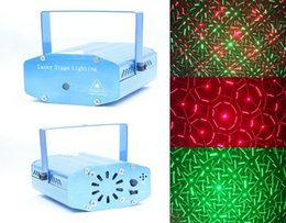 Wholesale New The new mini projector red green and blue lights DJ disco stage laser lighting show Christmas party free