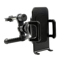 Acheter en ligne Vent mount gps-360 ° voiture d'air d'évacuation support de support de berceau pour téléphone portable mobile GPS voiture d'air de ventilateur support de téléphone support de berceau pour Apple iPhone 5 5G