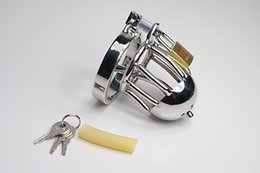 304 Steel Chastity cock cage With stainless Catheter Male Chastity Device Cock Cage male chastity devices stainless steel chastity steel 924