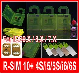 R-SIM 10+ RSIM 10+ Rsim10+ r sim 10plus iphone unlock card for Iphone 6s 6 5s 5 4s IOS9.1 IOS9.0 IOS7.X-IOS9.X 3G 4G CDMA FOR sprint AU SB