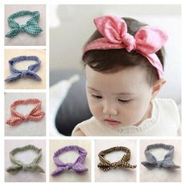 11 colors Baby headbands fashion printed knotted bowknot headband baby girls infant headbands baby turban cotton jersey blend headband