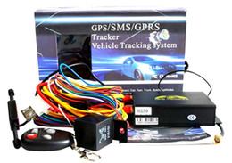 Dispositivos anti-robo de coches en venta-En tiempo real del GPS del coche perseguidor localizador de apoyo SMS / GPRS / Internet vehículo de seguimiento del dispositivo Anti-robo del sistema de alarma TK105A TK105B 15pcs