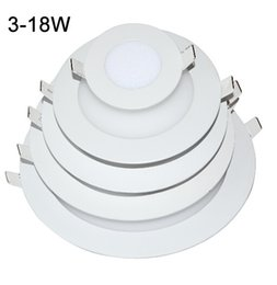 Wholesale X20 real power LED Panel Light W W W W W W Led Ceiling Recessed Grid V Downlight Ultra thin SMD Down Light Lamps