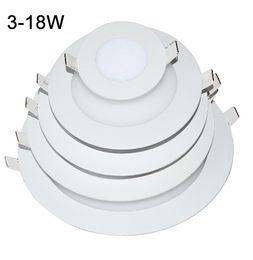 Promotion dans la lumière conduit 6w X20 + 2015 puissance réelle LED Panneau Lumière 3W 6W 9W 12W 15W 18W Led Plafond Grid encastré 85-265V Downlight Ultra mince 2835 SMD Down Lumière Lampes