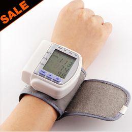Wholesale Automatic Digital Wrist Cuff Blood Pressure Monitor Arm Meter Pulse Sphygmomanometer Heart Beat Meter LCD Display New
