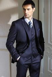 2015 High quality Notch Lapel Groom Tuxedos Wedding Party Groomsman Suit Wedding Party Suit (Jacket+Pants+vest)q127