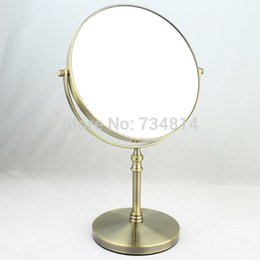 Wholesale Iron Cosmetic Mirror Vintage with Glass antique bronze color plated